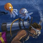 octopus, ocean life, and sea life