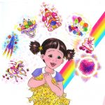 A little girl whose imagination comes to life