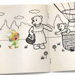 Bears and coloring book