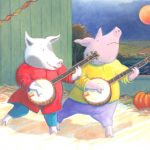 Cute Pigs, musicians, Farm Animals, farm animals friendship, and dress up
