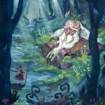 Adventure , Imaginative Journey, and girl in forest