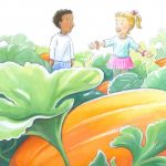 pumpkin patch, acitvities for children, and a picture book