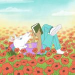 contemporary teen, and Reading,  flowers, and unicorn