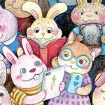 Bunny, Books and Reading, iPad, Animals: cats, and Animals
