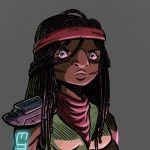 Female Pirate, outer space, and character design