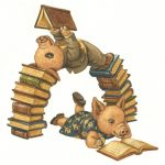 Books and Reading, Cute Pigs, and Pigs