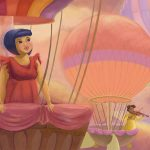 childrens books, hot air balloons, and ladies