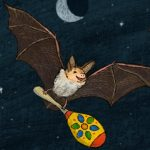 bats, At Night, moon, and A Little Night Music