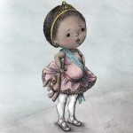 ballerina, little girl, African American Girl, pout, pouting, and   princess