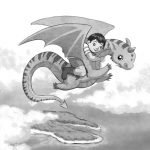 dragon, flying, and children fantasy