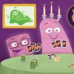 ghost, halloween, board game, and Card game