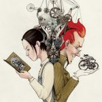 steampunk/fantasy,  Historical Fiction, american folk tale, and strong female protagonist