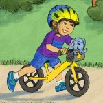 bike riding and playing outdoors