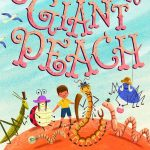 book cover and James and the Giant Peach