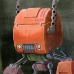 Robot, farm, and Tractor