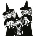 witches, family portrait,   families, #cat, cats, and kitty