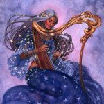 Stars, harp, Indian Folklore, and classical music