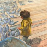 Picture Book Art, running, and pigeons