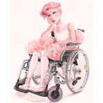 Wheelchair, pink hair, ballerina, ballet, dance, hurt, Dreams & Aspirations, Dreams can come true!, wistful girl, and coping with disability