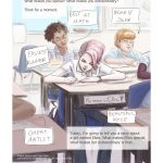 pink hair, studying, School children, a picture book, children's picture book, Dreams & Aspirations, and coping with disability