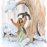 Winter, falcon, Boy lost in the forest., and excitement