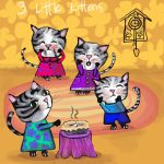 Cats and three little kittens