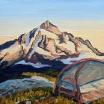 Camping, Hiking, and  mountain