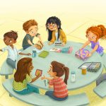 Back to School, lunchroom, lunch, School Lunch, and Diversity