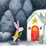christmas, Bunny, Christmas Trees, Reindeers, and Rabbit in the snow.