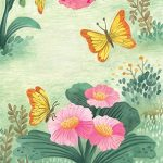 children in nature, butterfly, and  flowers