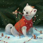 Children Picture Book,   christmas tree, Christmas, Animal, and mice