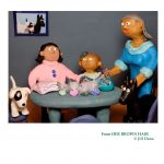 Friendship, jewelry, Grandma, Dogs, Pets, clay illustration, clay sculpture, and arts and crafts