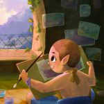 Monk, goblin, isolation, painting, and window