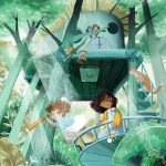 children in nature, treehouse, Adventure Fantasy, a picture book, Animals, and fun