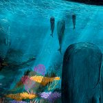 Ocean, Whales, coral reef, Animals, moody, High Seas, a picture book, and Surreal Landscapes