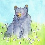 childrens book, bear, and children in nature