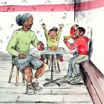 pizza, Contemporary family, and African American art