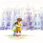 A Rainy Story, boy and girl, brother and sister, and African American