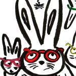 bunnies, rabbits, Bedtime reading, child and adult reading, Spider, funny animals, eyeglasses, wearing glasses, and Glasses