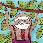 sloth, sloths, Suspenders, jungle, trees, and trees and animals