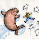 walrus, Walruses in the winter, Penguin, and Snow Angels