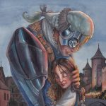 Cyborg, beauty and the beast, and book cover