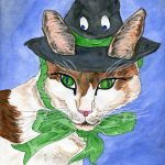 cats, hats, witches, and ribbon