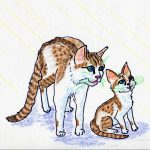 cats, kittens, mothers and sons, statue, and Ancient Egyptian mythology
