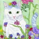 cats,  flowers, gardens, and  spring