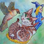 cats, birds, witches, and flying