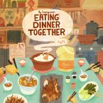 dinner time, family dinner, Asian American, Chinese American, Immigrants, and Food and cook