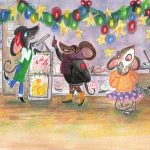 Aesop's Fables, field mouse, mice, Bakery shop, Christmas holiday, and Winter