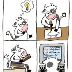 cow, Books and Reading, comic, Ideas, story ideas, and graphic novel