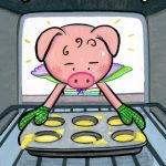 Baking and little pig